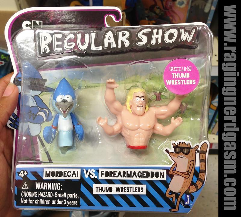Cartoon Network Regular ShowThumb Wrestlers Modercai and Forearmageddon