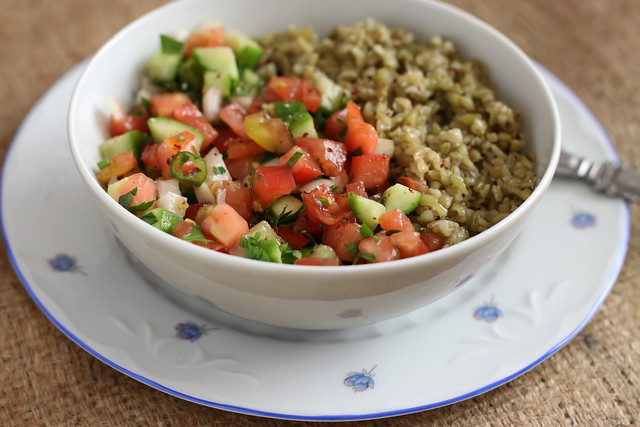 Shepherd Salad with Freekeh by Olga Irez of Delicious Istanbul