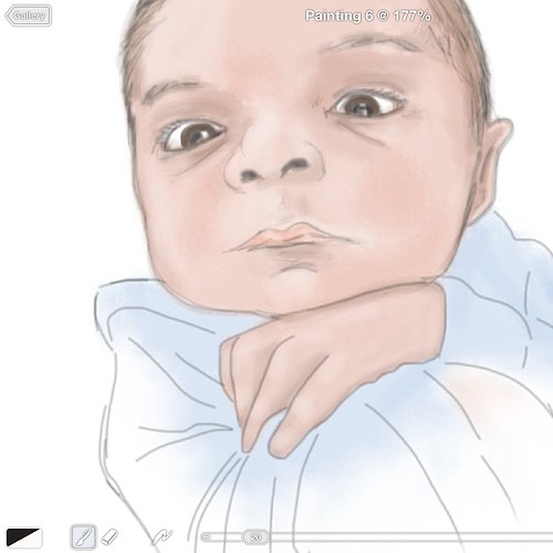 Baby AJ sketch on iPad