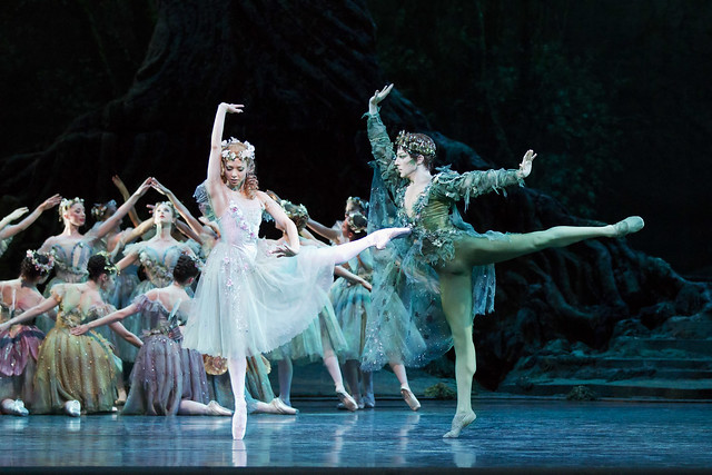 Steven McRae as Oberon and Roberta Marquez asTitania in The Dream. © ROH / Johan Persson 2012