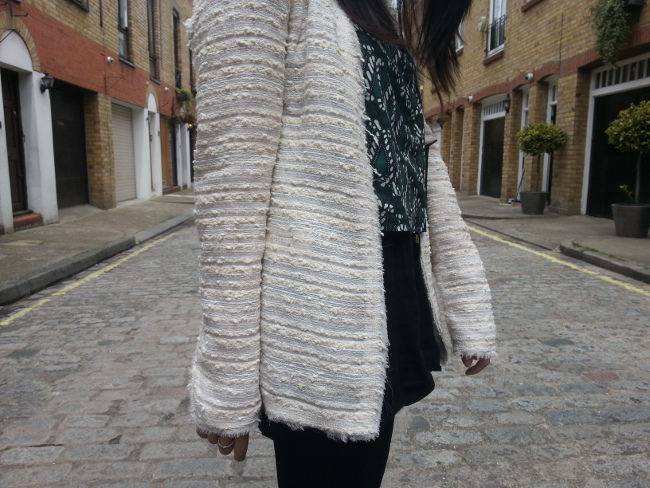 Daisybutter - UK Style and Fashion Blog: what i wore, outfit post, fashion blogger, british style, zara, boucle jacket, topshop, high street