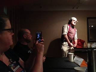 This fine gent showed up at the Monty Python panel. And had costumes for others, too. #cvg2013