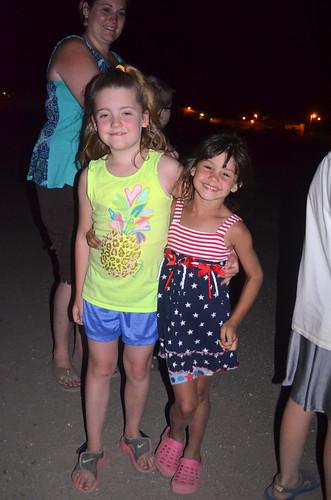 Kaitlyn and Kaidence enjoying the fireworks