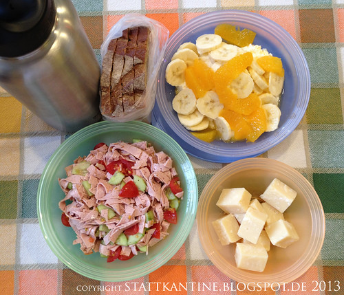 Stattkantine 24. April 2013 - Leberkäse-Salat, Parmigiano-Reggiano, Quark