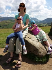 Sitting on a standing stone