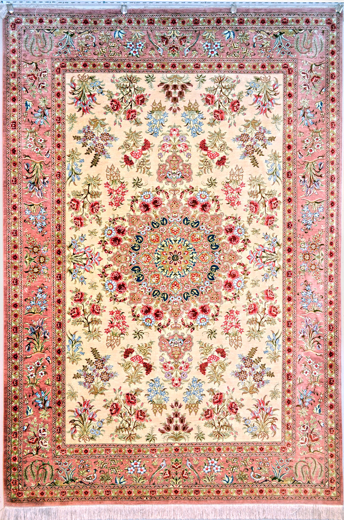 Silk Qum Persian Area Rug