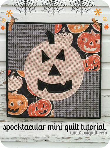 spooktacular mini quilt tutorial.