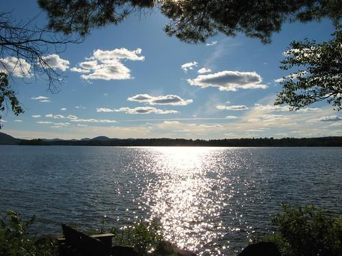 cloud sun lake ny newyork reflection water clouds adirondacks speculator lakepleasant adirondackmountains campofthewoods