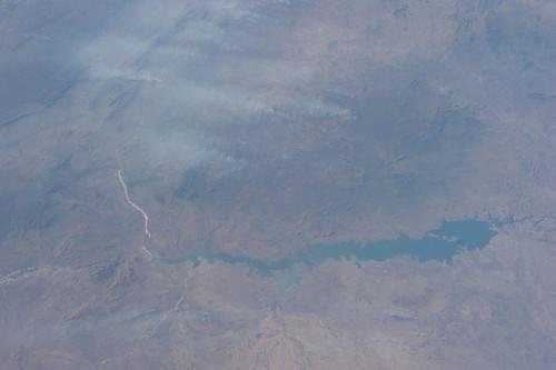 earth nasa zambia mozambique internationalspacestation zambeziriver cahorabassa expedition28
