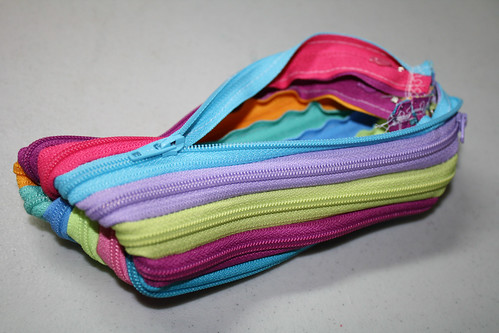 zipper pouch made of zippers