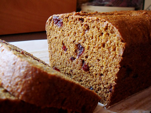 Pumpkin Spice Bread with Cranberries