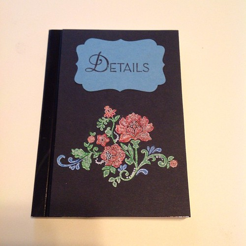 The door prize I made for tomorrow's #stampcamp Join us at the #Belmar #library and make 10 cards and be entered to win this #notebook and other great prizes! Contact me and I'll get you the info #Stampinup #colored #chalkboard #notebooks #journal