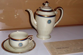 Hindenburg Coffee Pot, Cup, Saucer, and Napkin Holder (1936)