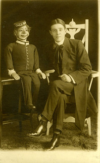 Ventriloquist and his dummy