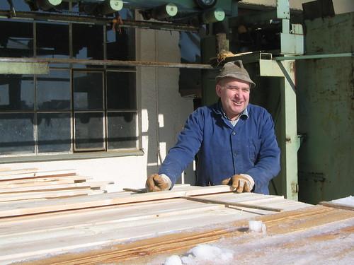 #holzvonhier-holzwirtschaft - in einem Sägewerk
