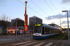 GVB Combino tram 2057, Lijn 17, Tussen Meer