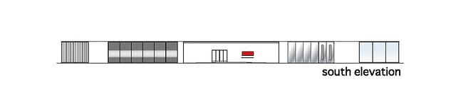 Photo:aat + Makoto Yokomizo - 富弘美術館 Tomihiro Art Museum - Drawings 10 - 南向立面圖 South Elevation By 準建築人手札網站 Forgemind ArchiMedia