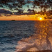 Sunset near Porec by hanspartes