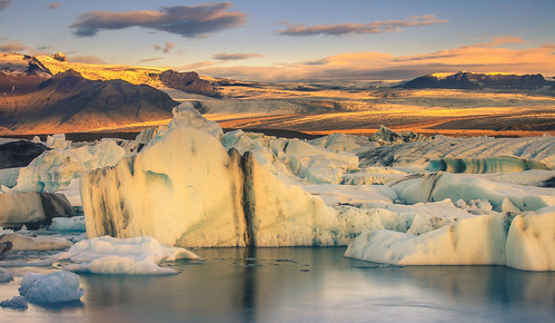 ice sunrise dawn iceland lagoon glacier iceberg jökulsárlón glacierlagoon