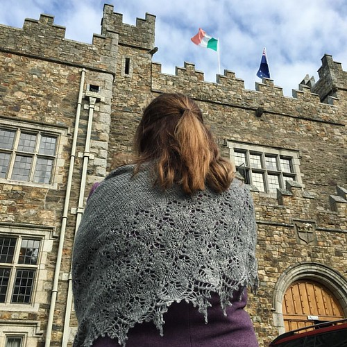 Farewell @waterfordcastle. Shawl is #SweetDreams by @booknits created by @kaystir in her own handspun.