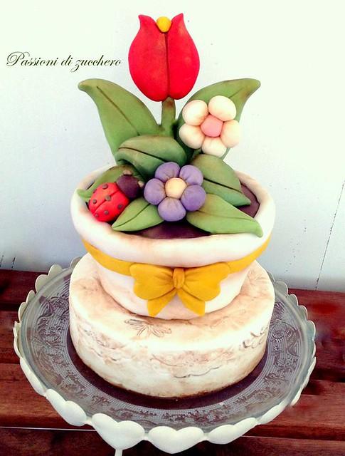 Flower Cake by passioni di zucchero