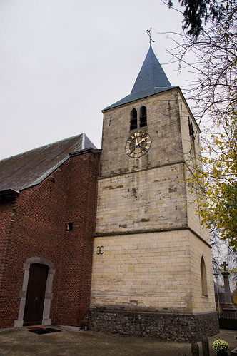 Gors-Opleeuw, gotische toren van Sint-Martinuskerk