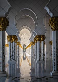 Image of Sheikh Zayed Grand Mosque near Abu Dhabi. sheikh zayed grand mosque abu dhabi uae emirates