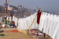 Life, death, and laundry. You see it all on the Ganges riverfront in Varanasi, India. #travel #india @onthegotours