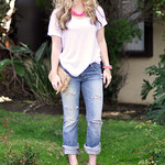 nude and neon accessories- ripped jeans and t