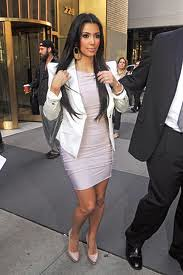 Kim Kardashian White Blazer Celebrity Style Fashion