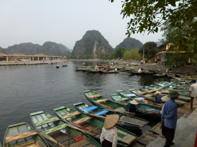 The doc at Tam Coc