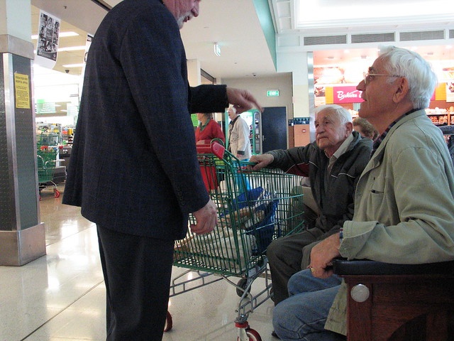 Old men at the shopping centre #2