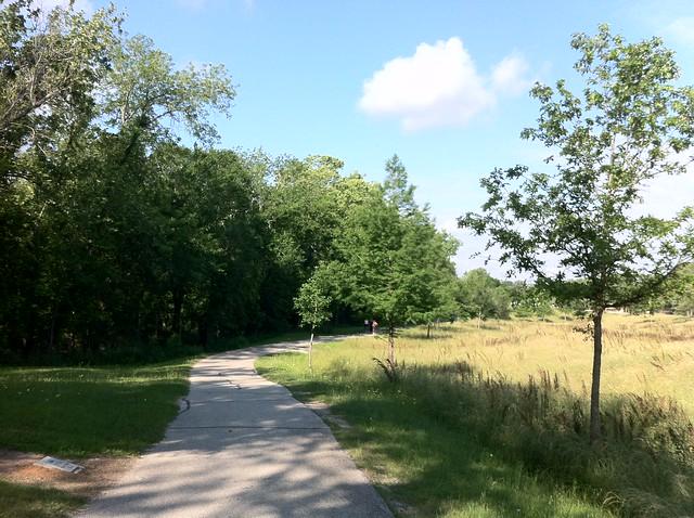 Hike and bike trail in Houston TX