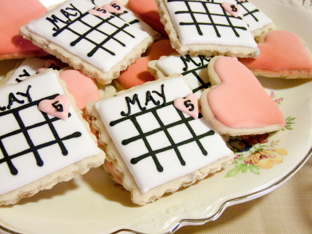 Save The Date Wedding Shower Cookies