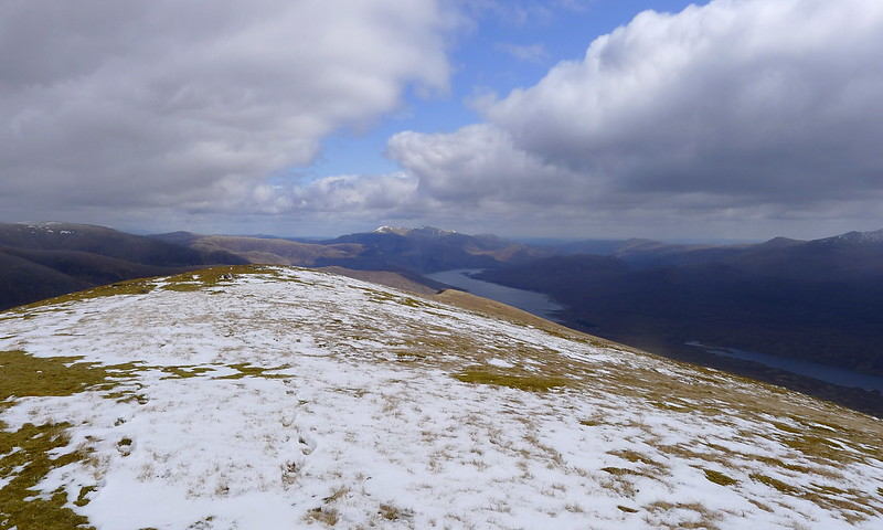 Looking down Meal Mor to Loch Monar and the Strathfarrar Munros