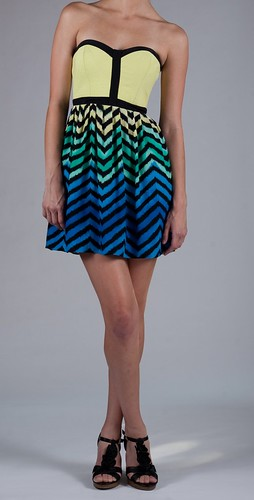 Parker Strapless Combo Dress $242.00