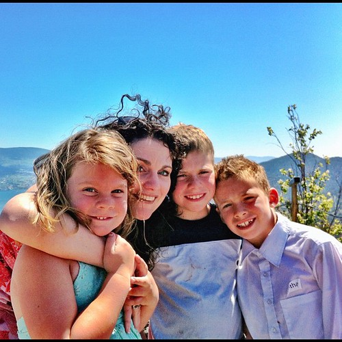 Happy Mother's Day, from the top of Giant's Head Mountain! (My hair is waving hello.)