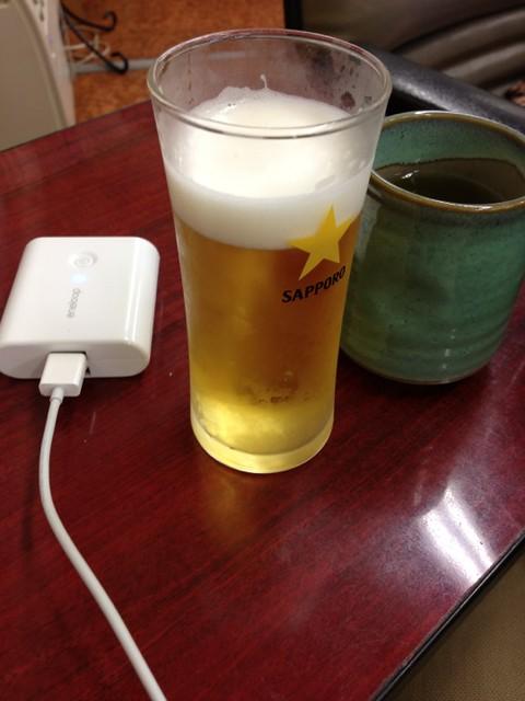 Photo:早く着いてしまった。何となくビール。 By detsugu