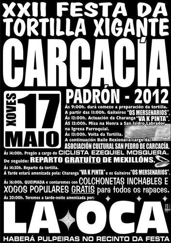 Padrón 2012 - Festa da Tortilla Xigante en Carcacía - cartel