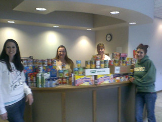 Corizon Michigan Regional Office hosts food drive