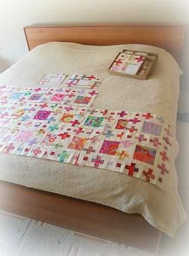 Mum's Curio Quilt - Row G WIP