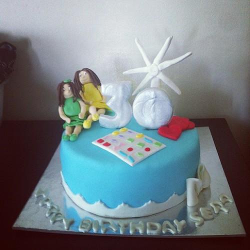 #themedcake #30yaspastasi #sekerhamurlupastalar by l'atelier de ronitte