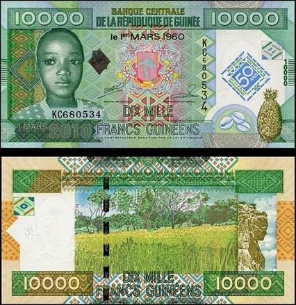 10000 Frankov Guinea 2012, pamätná