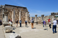 Synagogue ruins at Capernaum