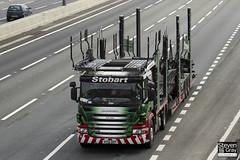 Scania P420 6x2 Car Transporter - AY12 AKP - Lisa Kate - Eddie Stobart - M1 J10 Luton - Steven Gray - IMG_8174