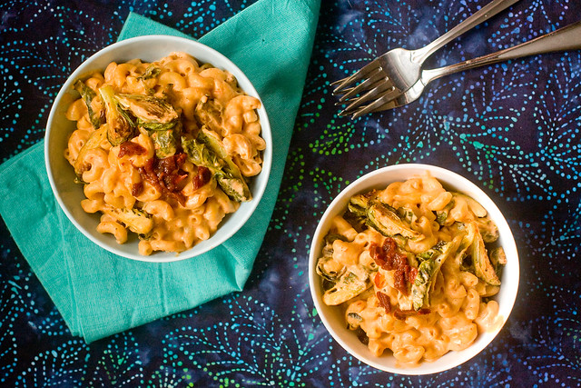 Chipotle Mac and Cheese With Roasted Brussel Sprouts | Post Punk Kitchen | Vegan Baking & Vegan Cooking