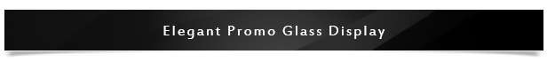 Elegant Promo Glass Display Project Name