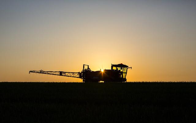 Crop Spraying by Mark L Edwards