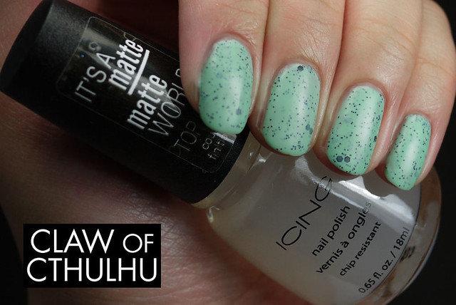Icing by Claire's Mint Choco Chip Swatch (Matted with Icing By Claire's Matte Top Coat)