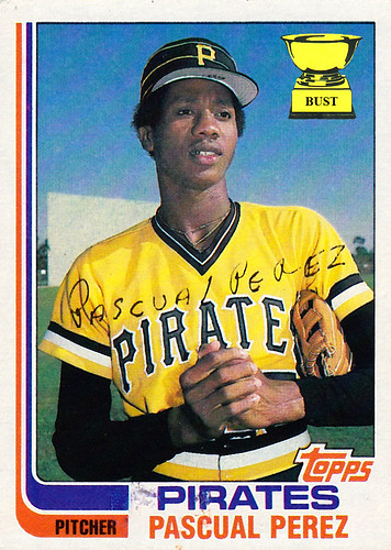 Baseball Card Bust Pascual Perez 1982 Topps